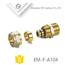 EM-F-A104 Male Thread compression connector brass union pipe fittings