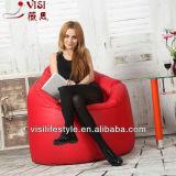 Fashion red pearshape easy clean vinyl bean bag boss chair