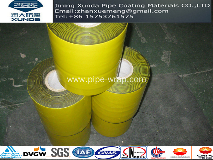 DVGW Standard Pipeline Wrap Tape For Oil Gas Pipeline