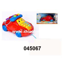 B / O crianças Telphone carro brinquedo com música e luz (045067)