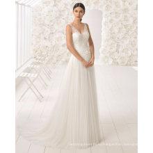 Бесплатная доставка V шеи кружева и тюль свадебное платье свадебное платье