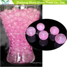 Rosa Glitter cristal água solo grânulos Centrepieces decorações de casamento