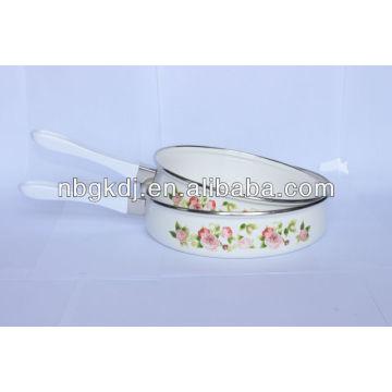 enamel frypan with bakelite handles