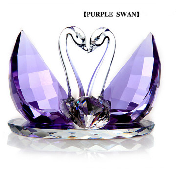 Beautiful Animal Crystal Glass Swan Craft for Wedding Gifts