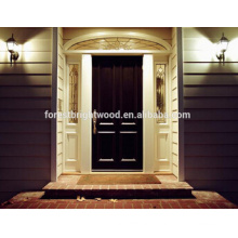 New Design Entry Door Solid Walnut Teak Hardwood Door Exterior Carved Wood Door