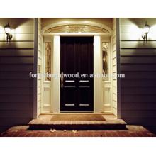 Porta de madeira cinzelada nova da porta da folhosa da teca da noz da porta de entrada do projeto porta de madeira cinzelada