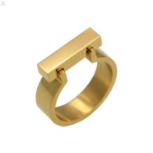 Mode personalisierte einfache Edelstahl Bar Inox Ring