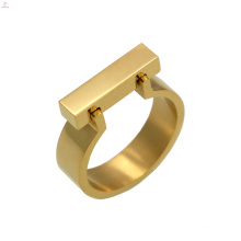 Fashion Personalized Simple Stainless Steel Bar Inox Ring