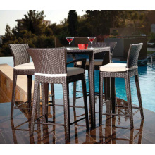 Patio Garden Wicker Outdoor Rattan Furniture Bar Stool Set