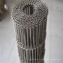 Bande de conveyeur de maille de fil d'acier inoxydable de bonne stabilité