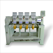 OEM-1204C 4 Head embroidery machine 12 needles flat /cap /garment embroidery machine with high speed machine embroidery