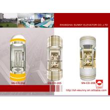 Cabine d'ascenseur d'observation avec verre feuilleté (SN-CD-204)