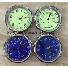Promoción regalo metal reloj insertar con Japón movimiento (34,5 mm)