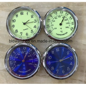 Promotion Gift Metal Clock Insert with Japan Movement (34.5mm)