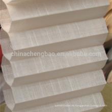 China Lieferant Leinen zellulären Schatten gefaltet Jalousien