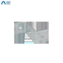 Customised steel angle bracket for wood beams