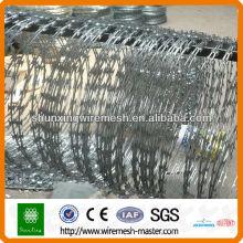 ISO9001 Alambre de púas de afeitar, alambre de púas galvanizado