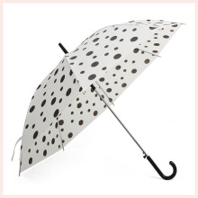 Auto Open DOT Druck Weiß Straight Umbrella (BD-69)