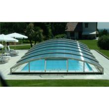 Выдвижная алюминиевая крышка крыши бассейна
