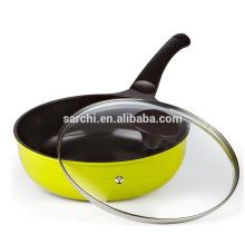Bandeja wok de aluminio ecológica con tapa