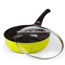 Eco-friendly aluminium wok pan with lid