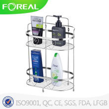 Fashional Wall Mounted Metal Wire Bathroom Corner Shampoo Rack