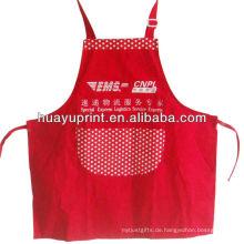 35% Baumwolle 65% Polyester Köper Stickerei Kithchen Bib schürzen umweltfreundliche Küche Promotion Schürze AT-1004