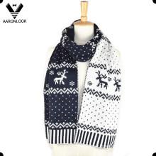 Модный женский акриловый жаккардовый оленький шарф