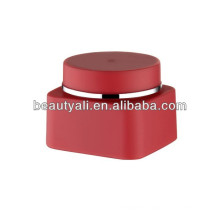 30g 50g Red Plastic Cosmetic PP Jar