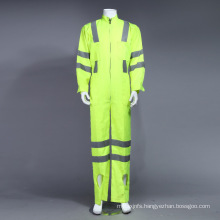 Poly Hi-Viz Reflective Uniform Coverall Workwear with Reflective Tape (BLY1008)