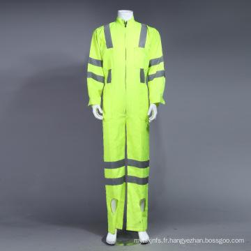 Vêtements de travail uniformes réfléchissants Poly Hi-Viz réfléchissants avec ruban réfléchissant (BLY1008)