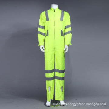 Poly Hi-Viz Reflective Coverall Uniform Workwear with Reflective Tape (BLY1008)