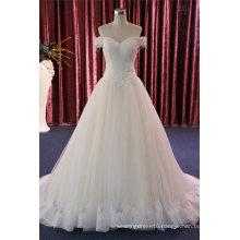 off Shoulder Lace Prom Evening Bridal Dress