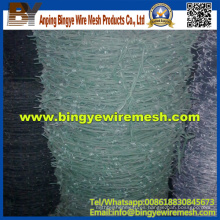 Alambre de púas revestido de PVC galvanizado doble de la torcedura