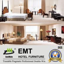 Wooden Hotel Bedroom Furniture Bedroom Set (EMT-A6003)