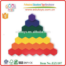 Деревянные сотовые сменные и многоугольные блоки для детских игрушек геометрические фигуры
