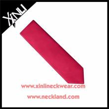 Cravates de cou faites sur commande de haute qualité des hommes tissés par jacquard de soie de couleur unie de 100%