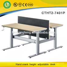 Adjustable modern steel office furniture desk china