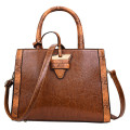 High quality oil wax skin fabric lady handbags