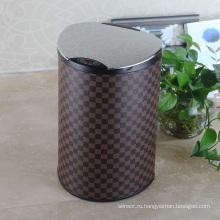 Нержавеющая сталь Lip Leather Aotomatic Sensor Dust Bin (E-12LB)