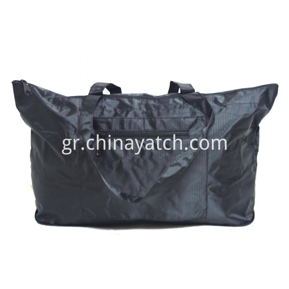 Shopping Bag with Three Zippers