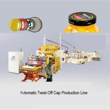 Linha de produção de tampa giratória para frasco de vidro