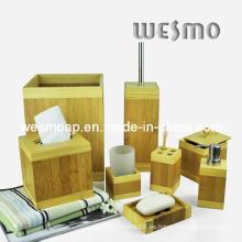 Accesorio de baño cuadrado de bambú (WBB0311A)