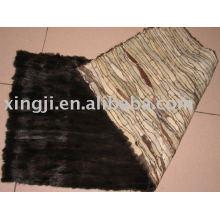 mink fur plate by skin scraps