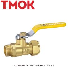 Válvula de bola externa del alambre del tubo de aluminio de cobre amarillo