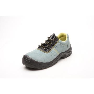 Venda quente Caual estilo camurça couro sapatas de segurança (HQ03018)