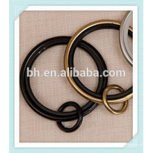 50mm schwarzer Gold Silber Metall Vorhang Ring, Vorhang Ring Haken Clips, Metall Ringe für Vorhänge