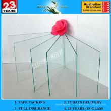 Panneaux de verre en feuille Glaverbel épais et épais de 1 po pour la construction avec AS / NZS2208: 1996