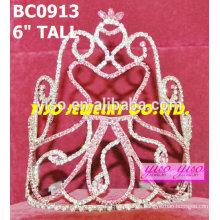 Corona de rhinestone muñeca de belleza