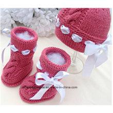 Прекрасный теплый ребенок вязания Pattern Baby обуви